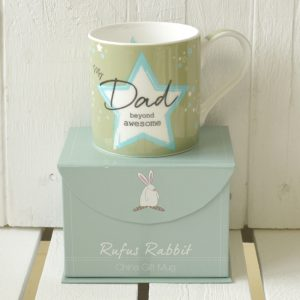 Rufus Rabbit Awesome Dad Mug Gift Boxed-0