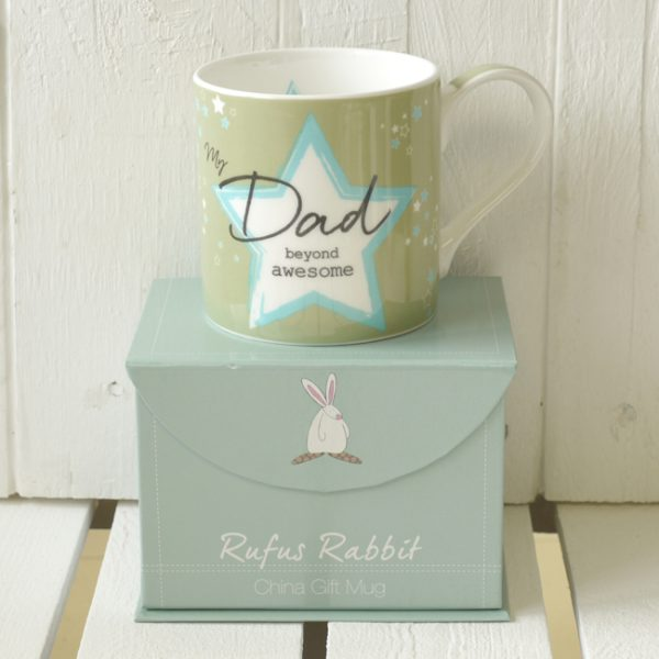 Rufus Rabbit Awesome Dad Mug Gift Boxed-0