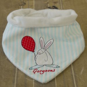 Rufus Rabbit Baby Boy Dribble Bib-0