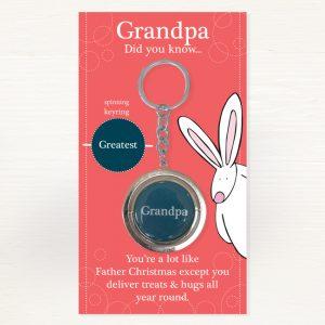 Rufus Rabbit Grandpa Keyring-0