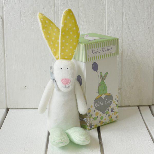 Rufus Rabbit Baby Rattle Gift Boxed-0