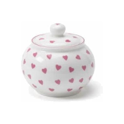 Nina Campbell Pink Hearts Sugar Bowl -0