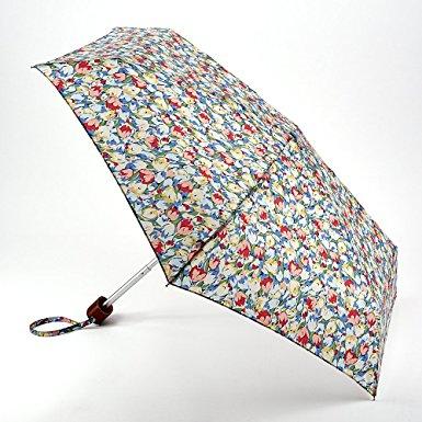 Cath Kidston Painted Tulips Blue Handbag Umbrella-0