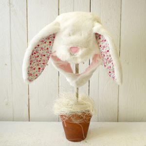 Rufus Rabbit Baby Girl Fluffy Bonnet -0
