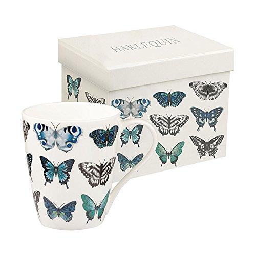 Harlequin Papilio Indigo Butterfly Mug-0