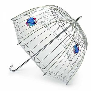 Lulu Guinness Lovebirds Birdcage Umbrella-0