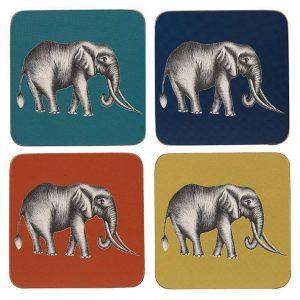 Harlequin Savanna Elephant Coasters x 4-0