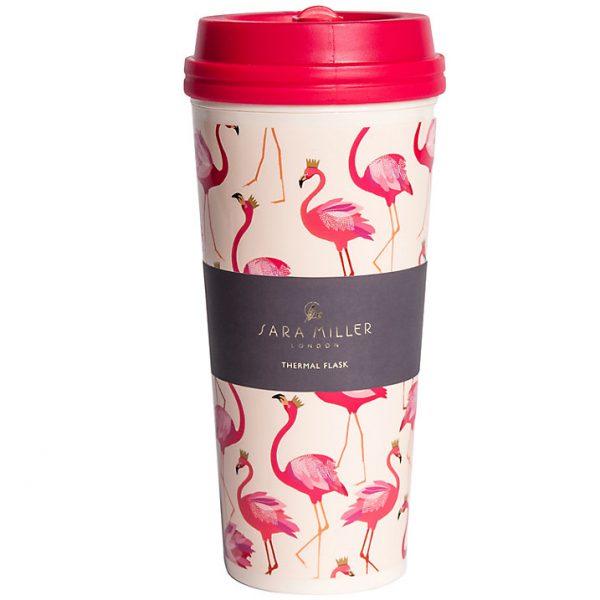Sara Miller Flamingos Thermal Travel Mug, Flask-0
