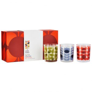 Orla Kiely Square Flower Mini Candle Gift Set-0