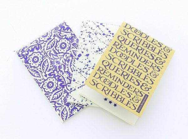 Emma Bridgewater Blue Skies Set Of 3 Notebooks-0