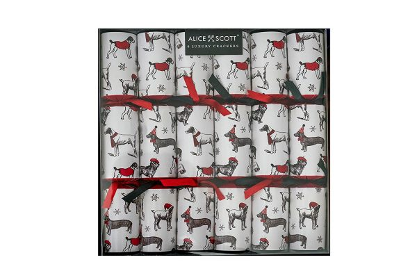 Alice Scott All Over Dashing Dogs Christmas Crackers-2716