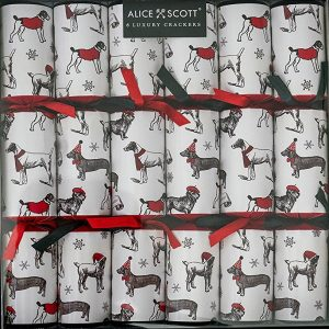 Alice Scott All Over Dashing Dogs Christmas Crackers-0