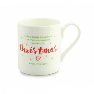 Always Sparkle Christmas Prosecco Mug-0