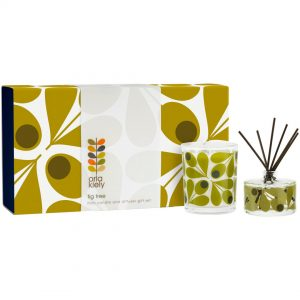 Orla Kiely Acorn Fig Tree Mini Candle & Diffuser Gift Set-0