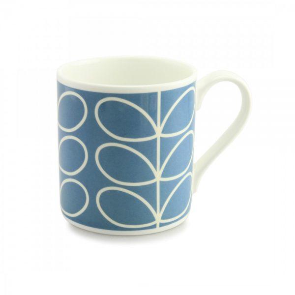 Orla Kiely Blue Linear Stem Quite Big Mug-0