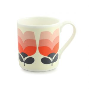 Orla Kiely Poppy Tonal Striped Quite Big Mug-0