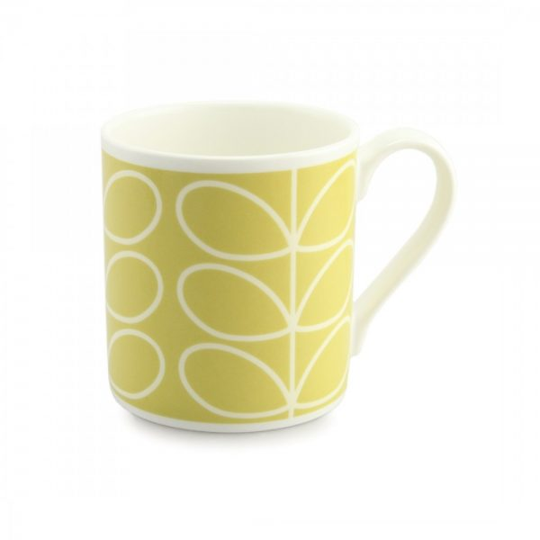 Orla Kiely Sunshine Yellow Linear Stem Quite Big Mug -0
