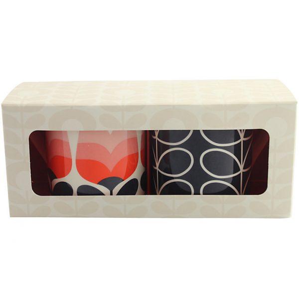 Orla Kiely Set Of 2 Blue Stem & Poppy Mugs Gift Boxed-0