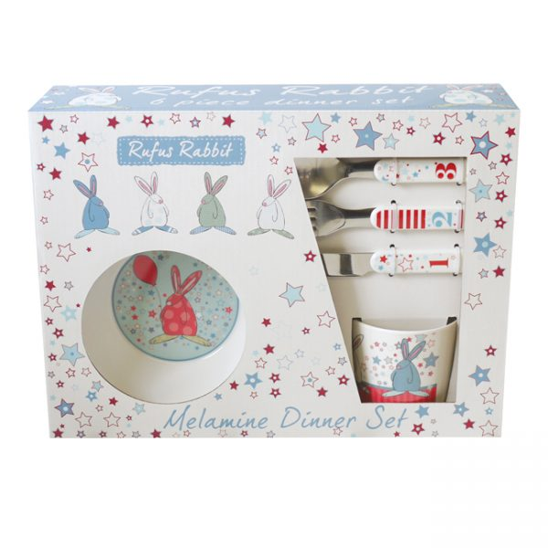 Rufus Rabbit Little Boy Melamine Dinner Set-0