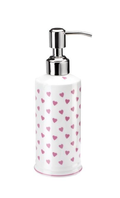 Nina Campbell Pink Hearts Soap Dispenser -0