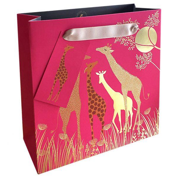 Sara Miller Giraffes Medium Gift Bag-0