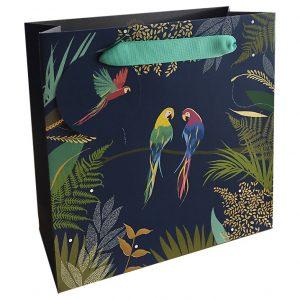 Sara Miller Parrots Medium Gift Bag-0