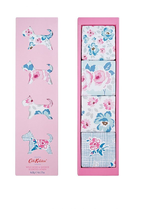 Cath Kidston Wild Rose & Quince Scented Soaps Set x 4-0