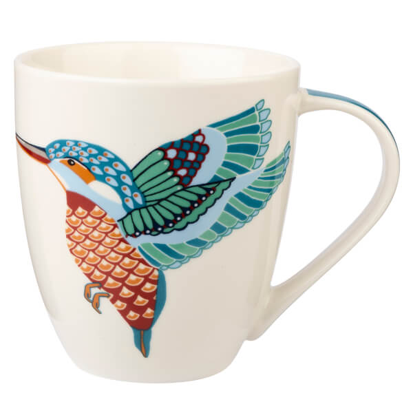 Queens Couture Paradise Birds Kingfisher Crush Mug-0