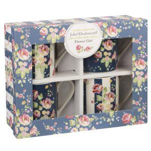 Julie Dodsworth Flower Girl Set of 4 Floral Mug-0