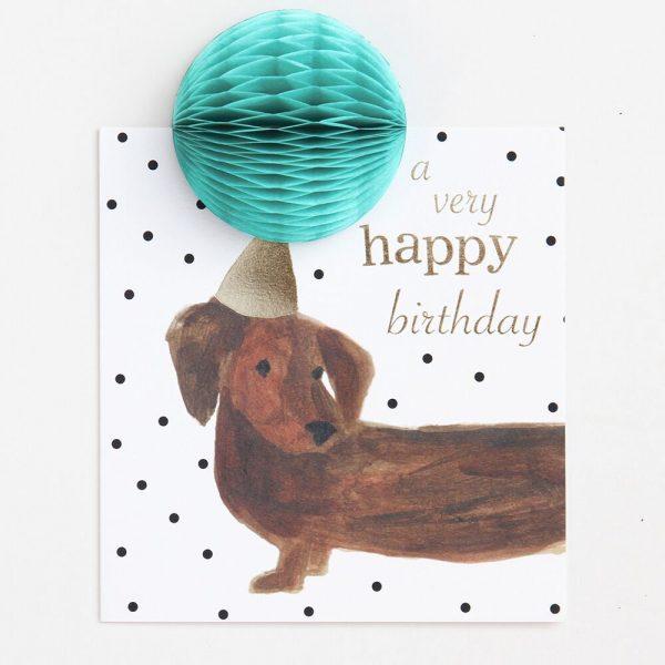 Caroline Gardner Pom Pom A Very Happy Birthday Dog Card-0