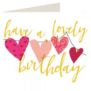 Caroline Gardner Have A Lovely Birthday Hearts Card-0