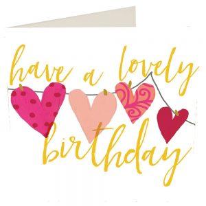 Caroline Gardner Have A Lovely Birthday Hearts Card-0
