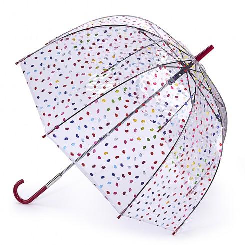 Lulu Guinness Confetti Lip Birdcage Umbrella-0