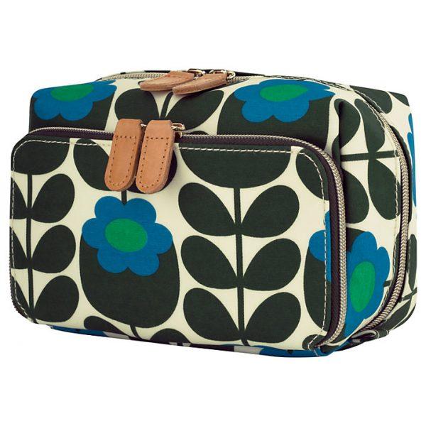 Orla Kiely Primrose Jade Medium Cosmetic Wash Bag-0