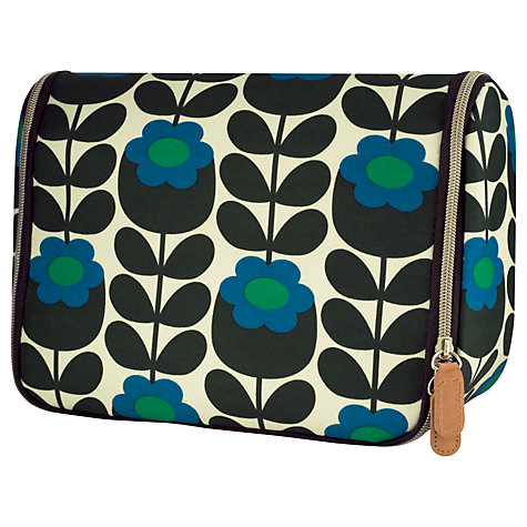 Orla Kiely Primrose Jade Large Hanging Wash Bag-0
