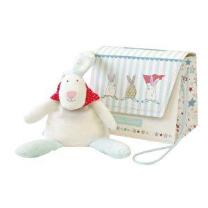 Rufus Rabbit Boy Beanie Toy & Gift Bag-0