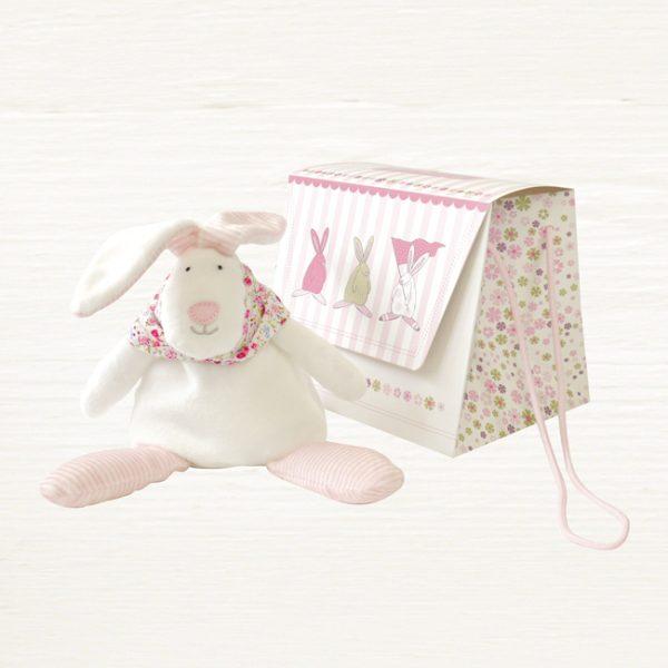 Rufus Rabbit Girl Beanie Toy & Gift Bag-0