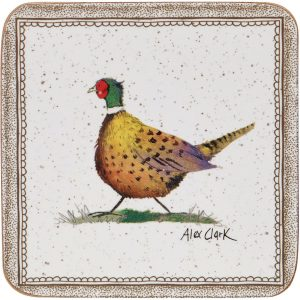 Alex Clark Wildlife Pheasant Coasters Pack of 6-0