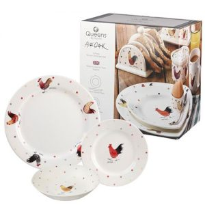 Alex Clark Rooster 12 Piece Dinnerware Set-0