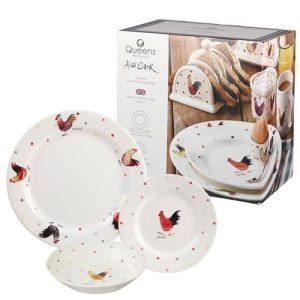 Alex Clark Rooster 12 Piece Dinnerware Set-0