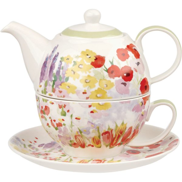 Collier Campbell Painted Garden Tea For One Set-0