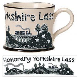 Moorland Pottery Honorary Yorkshire Lass Mug Gift Boxed-0