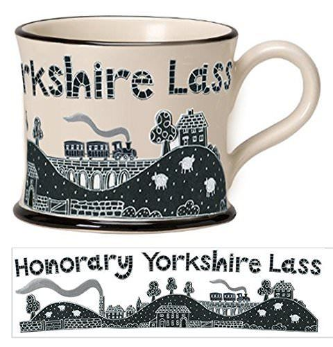Moorland Pottery Honorary Yorkshire Lass Mug Gift Boxed-0