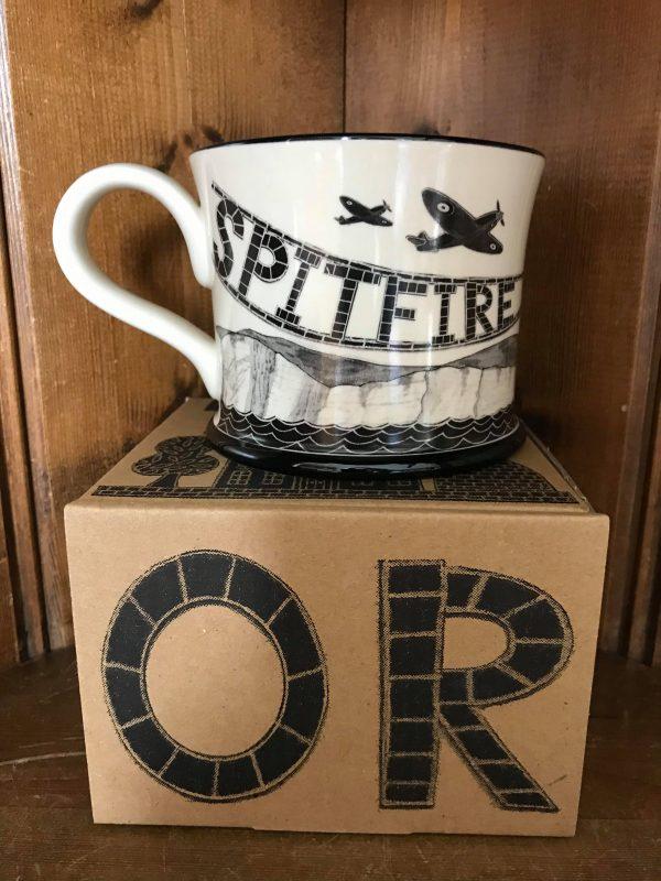 Moorland Pottery Spitfire Plane Mug Gift Boxed-0