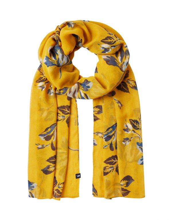 Joules Gold Floral Wensley Scarf-3715