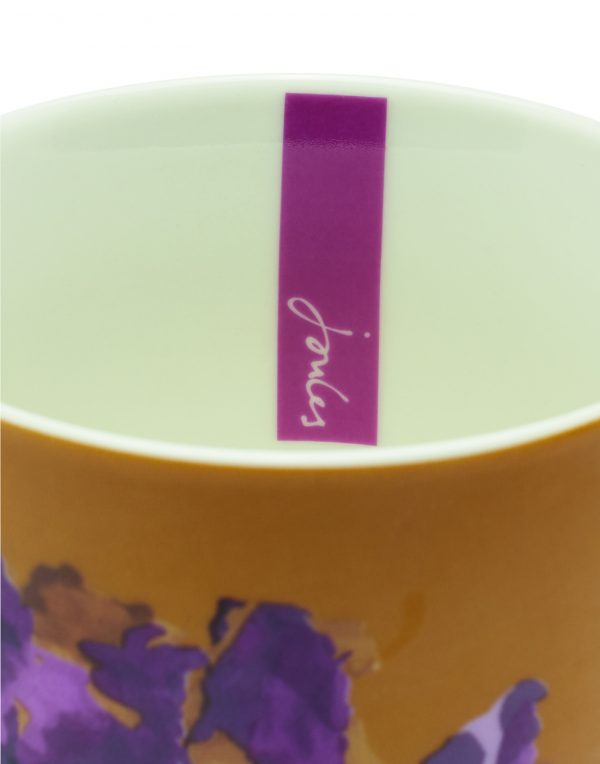 Joules Gold Floral Peony Mug, Gift Boxed-3540