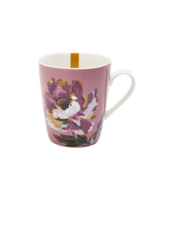 Joules Pink Floral Peony Mug, Gift Boxed-0