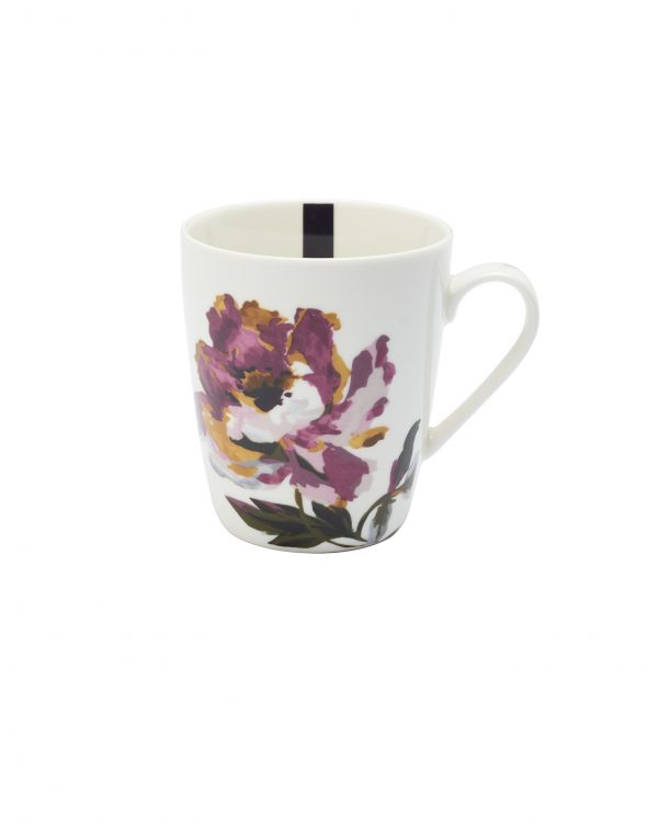 Joules White Floral Peony Mug, Gift Boxed-0