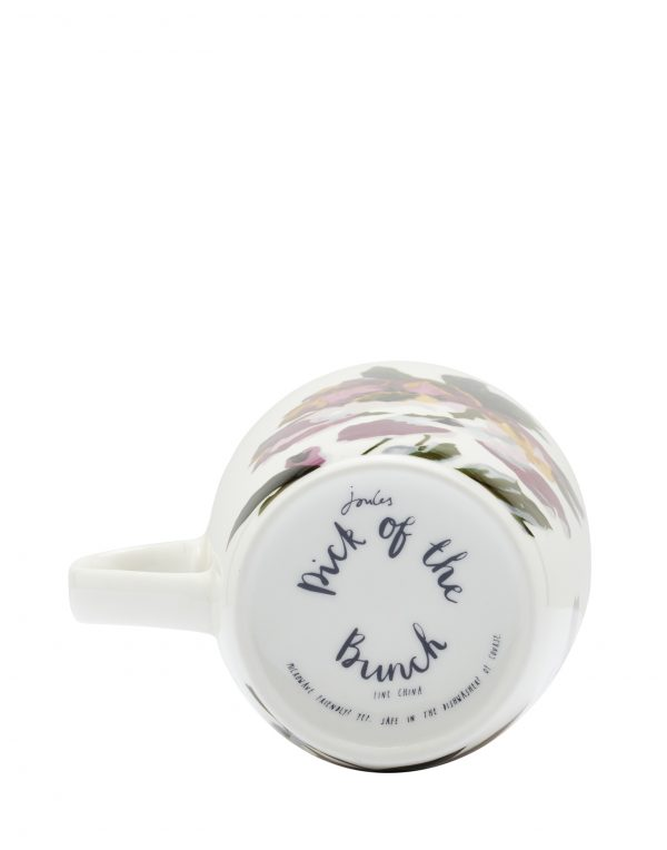 Joules White Floral Peony Mug, Gift Boxed-3531