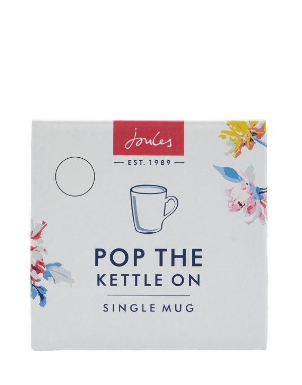Joules White Floral Peony Mug, Gift Boxed-3533